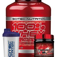 Scitec Nutrition 100% Whey Protein Professional 2350g – SPECIAL OFFER – FREE HOT BLOOD PRE WORKOUT 300G AND SHAKER